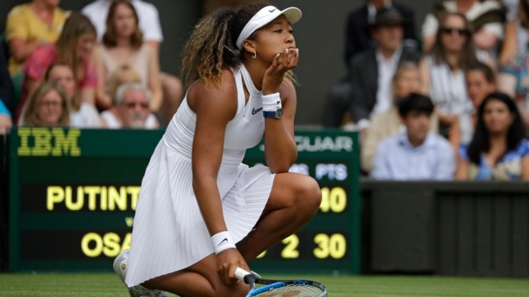 Image result for naomi osaka crashes out of wimbledon