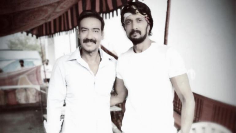 Pailwan Kichcha Sudeep meets Singham Ajay Devgn  See pic - Movies News