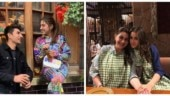 Sara Ali Khan chills with mom Amrita Singh and brother Ibrahim in London park. See pics