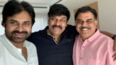 Pawan Kalyan meets Chiranjeevi with Jana Sena party member. See pic