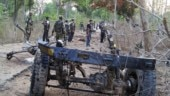 Raipur: Naxals torch two vehicles, road construction machine, no injuries reported