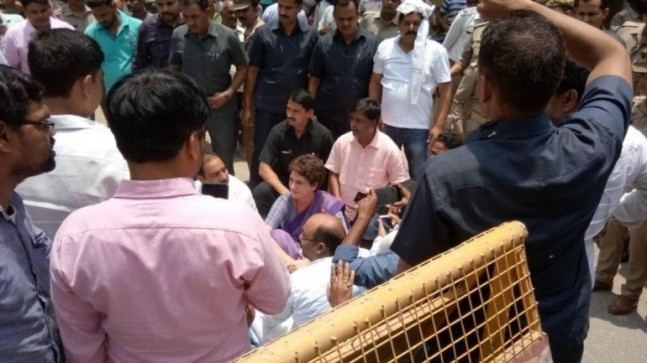 After Priyanka Gandhi's detention, Congress plans nationwide protest over Sonbhadra shootout