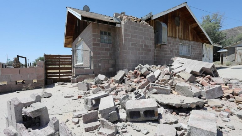 Shaken by powerful South California earthquakes people take