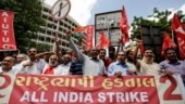 Trade unions protest Modi govt's disinvestment moves