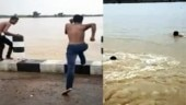 Bihar boy shoots TikTok video in heavy flood, water currents sweep him to death. Scary viral clip