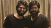 KGF star Yash meets Vijay Deverakonda in Bengaluru. A multi-starrer on the cards?