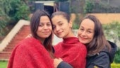 Alia Bhatt is feeling a whole lotta love for Shaheen Bhatt and Soni Razdan on Sadak 2 sets. See pic