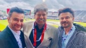 Anil Kapoor and Sanjay Kapoor have a fanboy moment with Kapil Dev at India vs New Zealand match