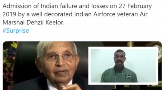 Fact Check: Pak Army spokesperson Asif Ghafoor tweets doctored video of IAF veteran on Balakot airstrikes