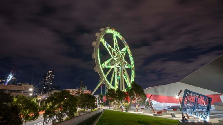 Women's Ashes: Melbourne lights up landmarks with green and