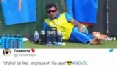 Yuzvendra Chahal shows off boss-level swag at Ind vs SL match. Internet hearts viral pic