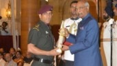 Sheldon Cottrell shares throwback video of MS Dhoni receiving Padma Bhushan award