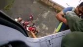 Mumbai rains: IAF chopper rescues people stranded atop building in Kalyan | WATCH