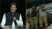 Pro-Balochistan activists disrupt Imran Khan's Washington address, raise slogans