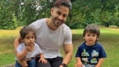Taimur and Inaaya look cute as buttons as they pose with Kunal Kemmu in London