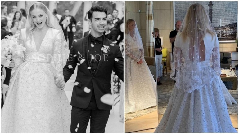 Sophie Turner Wedding.Sophie Turner S Stunning Wedding Gown Took 1 000 Hours To Make Has