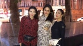 Kareena Kapoor paints London red in mini dress on girls night with Karisma Kapoor and Amrita Arora