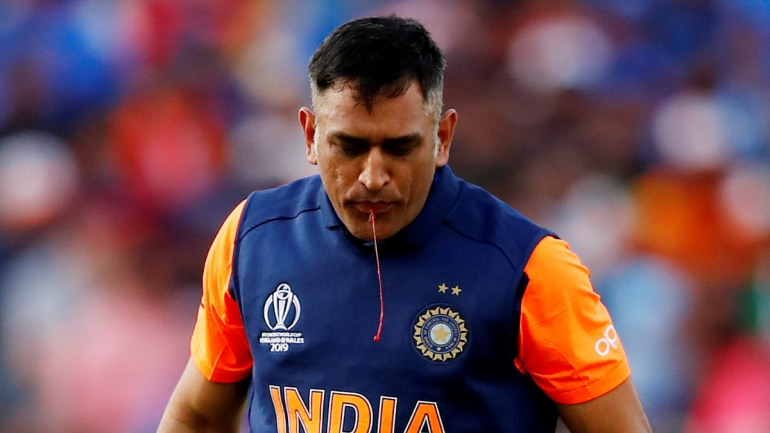 Picture of MS Dhoni spitting out blood goes viral  Here's what