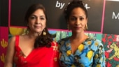 Neena Gupta steals the show in hot red saree at daugher Masaba's event
