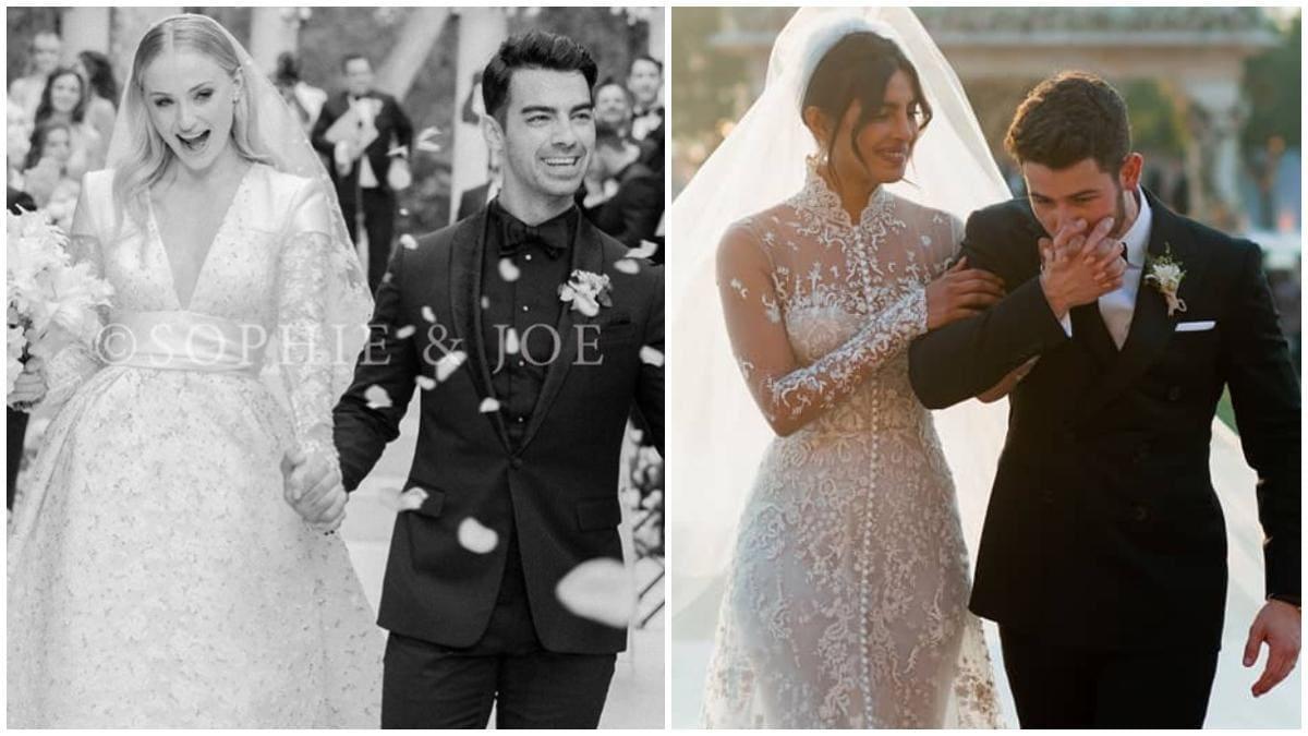 What Priyanka Chopra and Sophie Turner wore to their white ...