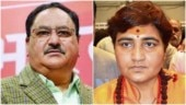 BJP working president JP Nadda pulls up Sadhvi Pragya for cleaning toilet remark