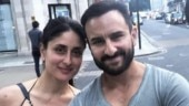 Saif Ali Khan and Kareena Kapoor Khan pose together on London streets. Don't miss his new tattoo