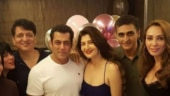 Salman Khan, Iulia Vantur and Mohnish Bahl party with Sangeeta Bijlani on her birthday. See pics