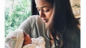 Sameera Reddy shares first pic of newborn daughter on Instagram: We prayed for a baby girl