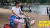 Sara Ali Khan enjoys bicycle ride on London streets. See pic
