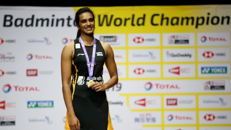 PV Sindhu became the first Indian shuttler to win gold at BWF World Championships. (Reuters Photo)