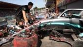 Belgian GP: Ferrari on top as Lewis Hamilton crashes in final practice