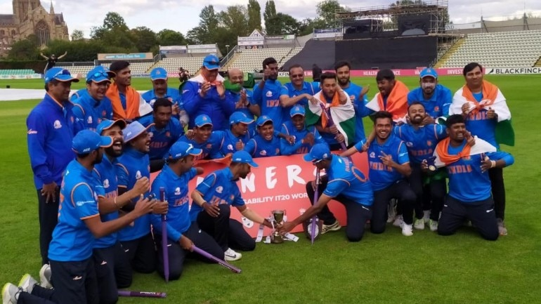 India beat England by 36 runs to lift Physical Disability