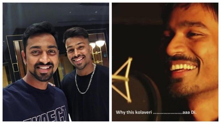 Hardik Pandya and brother Krunal Pandya sing Why This Kolaveri on