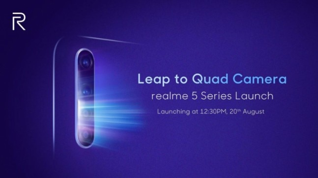 Realme 5, Realme 5 Pro launch on August 20: Quad cameras, 5,000mAh battery and everything we know so far - India Today thumbnail