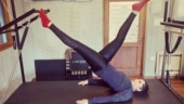 New mommy Sania Mirza sees the world upside down at Pilates class. Rana Daggubati has best reply