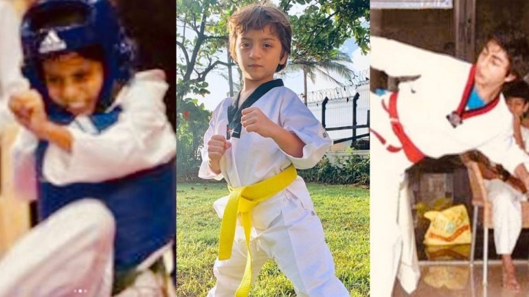 Shah Rukh Khan shared these pictures of Suhana, AbRam and Aryan.