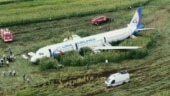 Russian pilot safely lands jet in cornfield as it collides with birds after takeoff