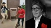 Amitabh Bachchan posts hilarious video of #MereKhwabonMeinJoAaye challenge. Leaves Internet in splits