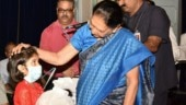 UP Governor Anandiben Patel adopts girl child suffering from TB
