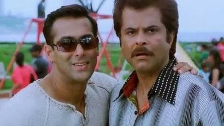 Salman Khan and Amil Kapoor in a still from No Entry.