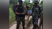Chhattisgarh: Man bitten by snake carried by CRPF personnel on shoulder for treatment