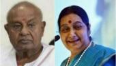 HD Deve Gowda, other Karnataka leaders express grief over Sushma Swaraj's demise