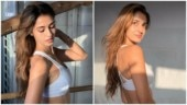 Disha Patani is all about effortless elegance in sports bra and thigh-slit flare pants for shoot