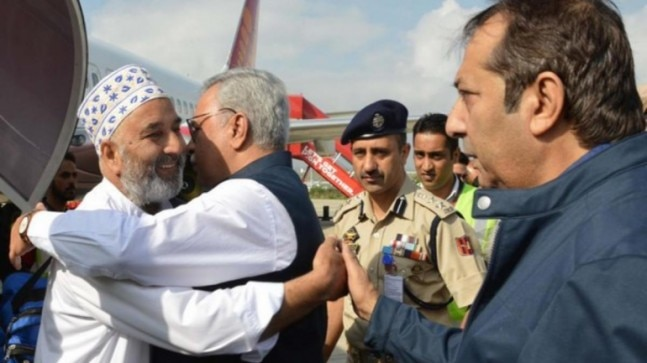J&K: First batch of 304 Hajj pilgrims reach Srinagar