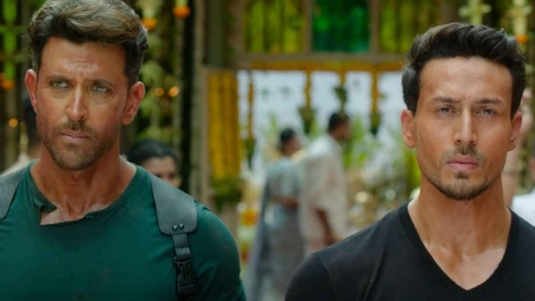 Hrithik Roshan and Tiger Shroff in a still from War.