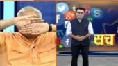 Twitter users slam Hum Hindu Founder Ajay Gautam for closing eyes on seeing Muslim anchor on TV