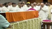 Amit Shah, Nitin Gadkari, BJP leaders pay last respects to Arun Jaitley at BJP headquarters