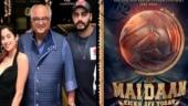 Janhvi Kapoor and Arjun Kapoor give a shoutout to dad Boney Kapoor as Maidaan kicks off.