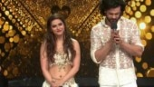 Madhurima Tuli smears cake on ex-beau Vishal Aditya Singh's face. Watch hilarious video