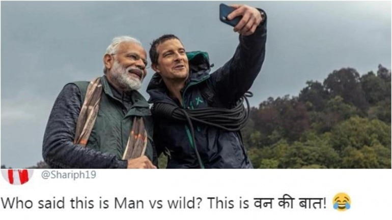 Saw Narendra Modi on Man Vs Wild with Bear Grylls? See the